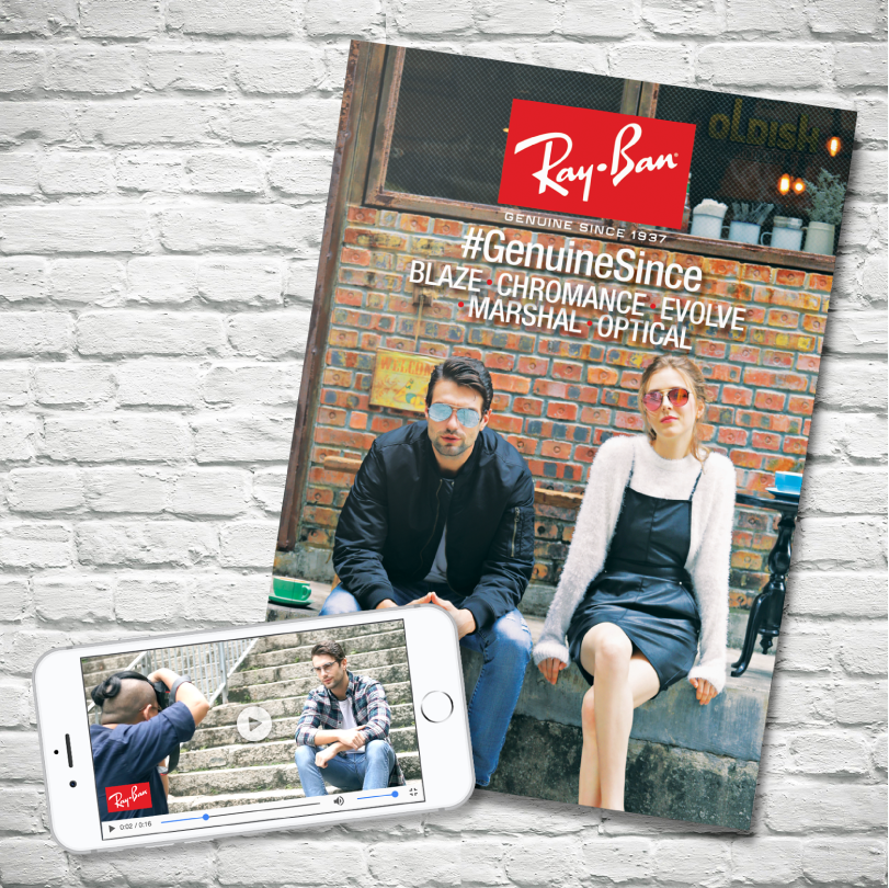 Facebook campaign with eye-catching video and booklet shooting for Ray-Ban